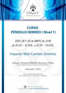 CURSO PENDULO HEBREO TIKUN CENTRO DEL BIENSTAR CULLAR VEGA GRANADA ANDALUCIA