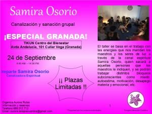 TALLER CANALIZACION Y SANACION GRUPAL SAMIRA OSORIO TIKUN CENTRO DEL BIENESTAR CULLAR VEGA GRANADA ANDALUCIA