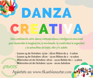 danzacreativa inteligencia emocional, contemporanea niños adultos bebes creatividad tikun centro del bienestar cullar vega granada andalucia españa