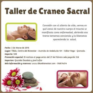 Taller de Craneo Sacral en tikun centro del bienestar cullar vega granada andalucia españa