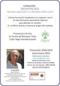 CARTEL CURSO BIOHIPNOSIS Tikun 2019