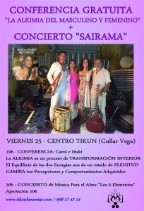 conferencia-concierto-tikun alquimia de lo masculino y femenino chamanismo tikun centro del bienestar